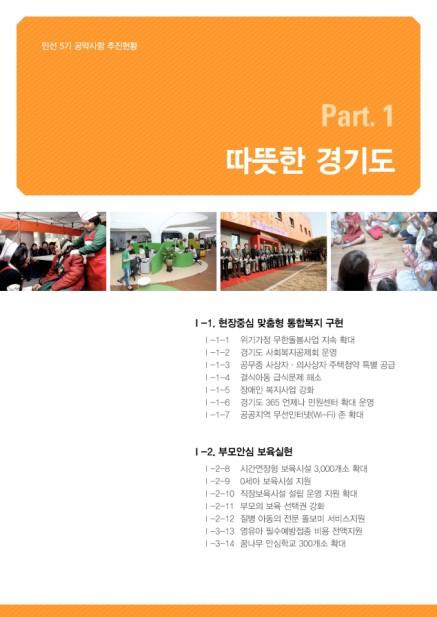 민선5기 공약사항 추진현황