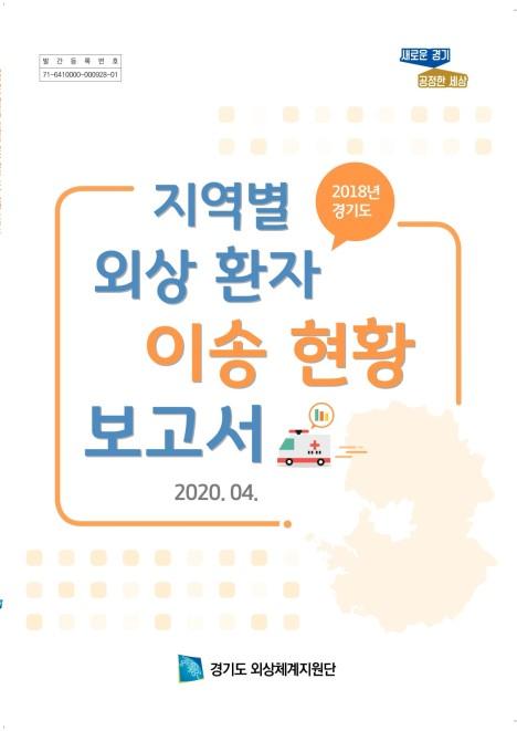 2018년 경기도 지역별 외상 환자 이송 현황 보고서
